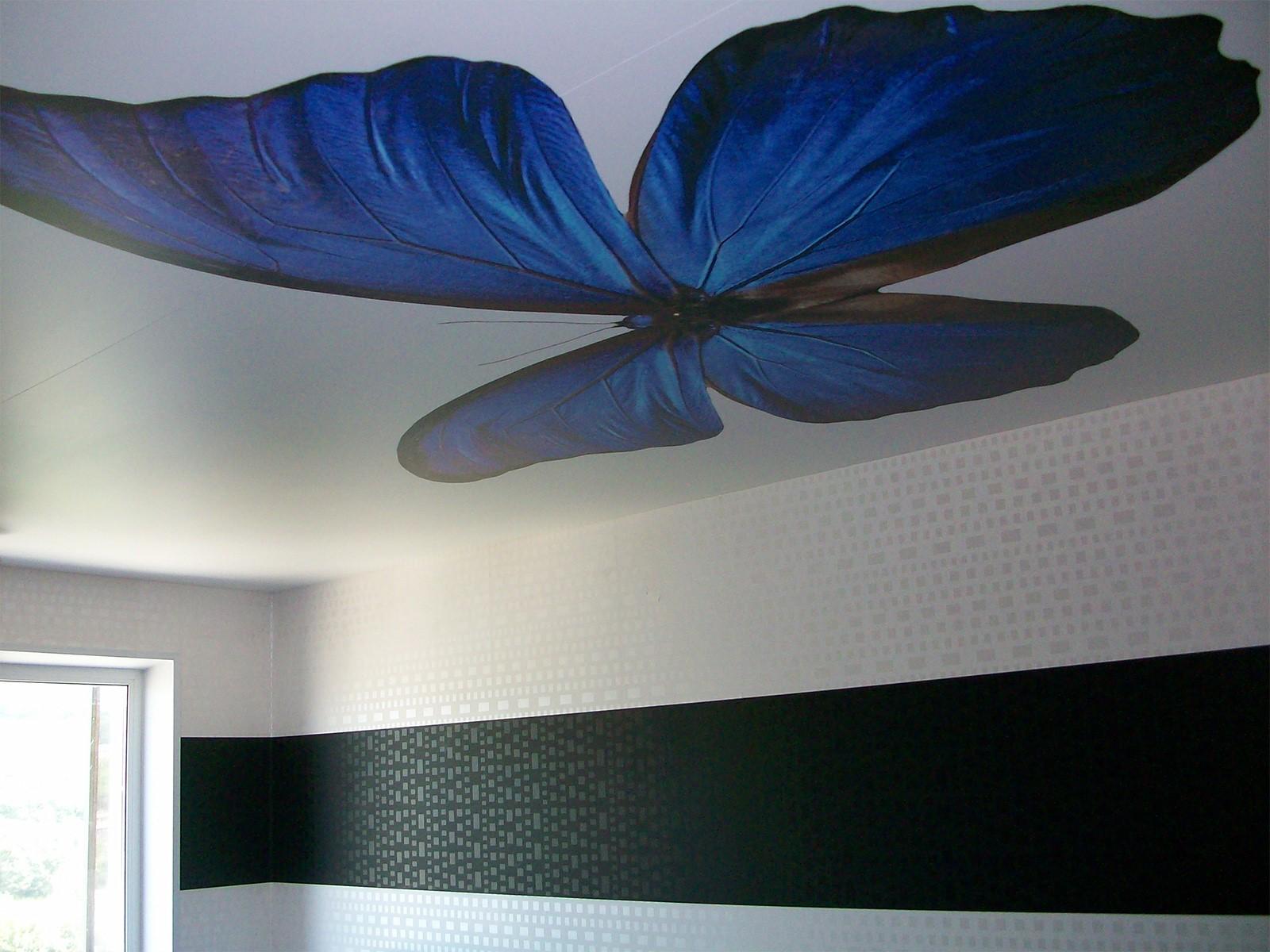 Дизайнерский потолок, бесшовный без подсветки