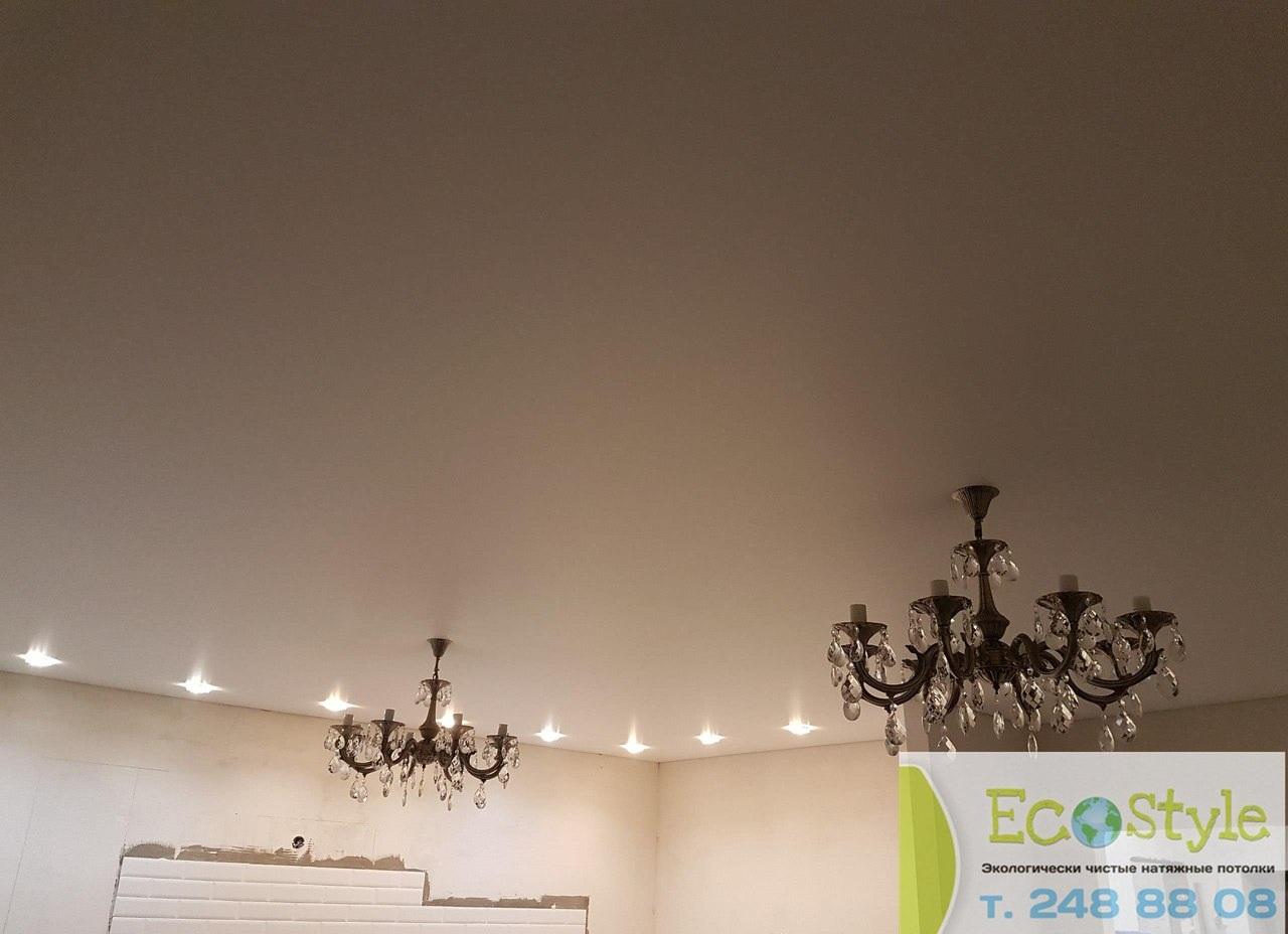 Экологический потолок с точечными светильниками мощностью 10 Вт