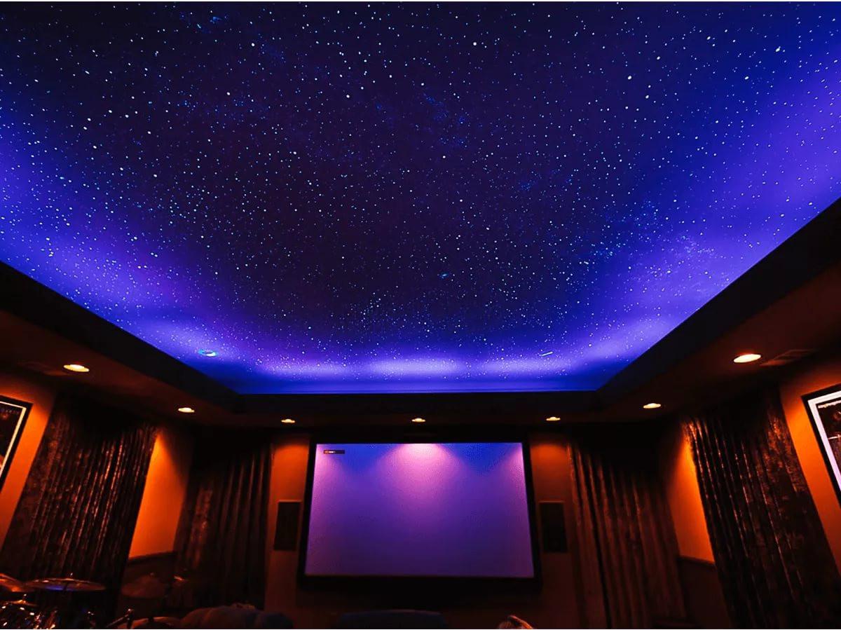 Потолок площдью 15 кв.м, мощность встроенных светильников 8Вт